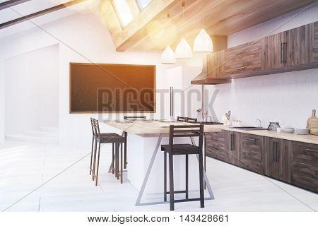 Stylish Kitchen With Sun Light