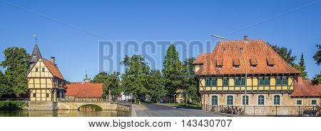 Panorama Of The Castle And Watermill In Steinfurt