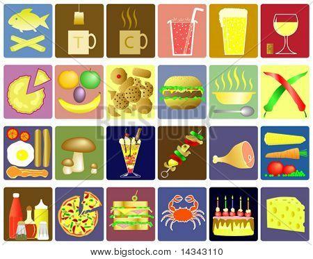 Bearbeitbare Essen und trinken-Vektor-icons