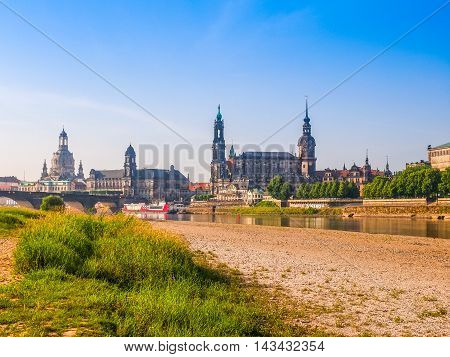 Elbe River In Dresden (hdr)