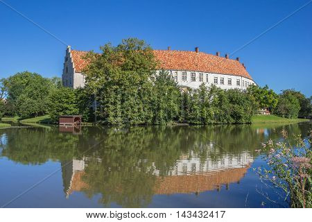 Steinfurt Castle With Reflection In The Water