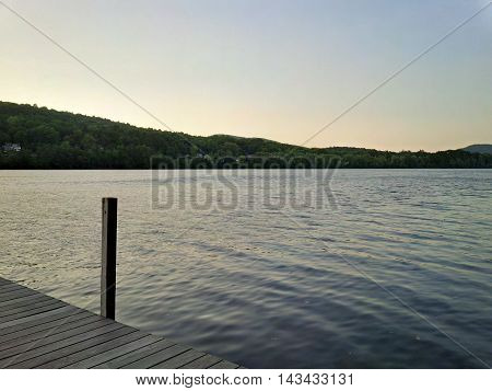 Sunset on the Connecticut River. A twilight that was soothing for the mind and for the eyes.