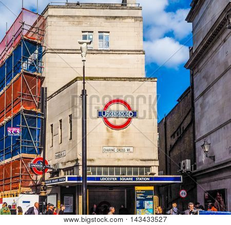 Leicester Square Tube Station In London (hdr)