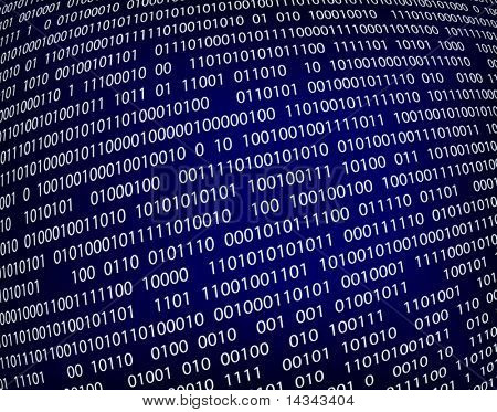 Editable vector background illustration of binary code