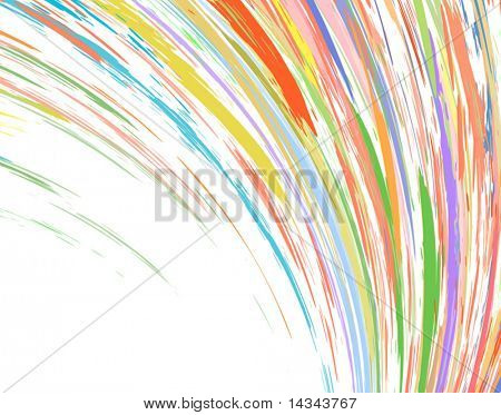 Abstract editable vector design of colorful streaks