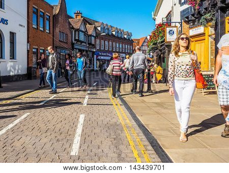 Tourists Visiting Stratford Upon Avon (hdr)