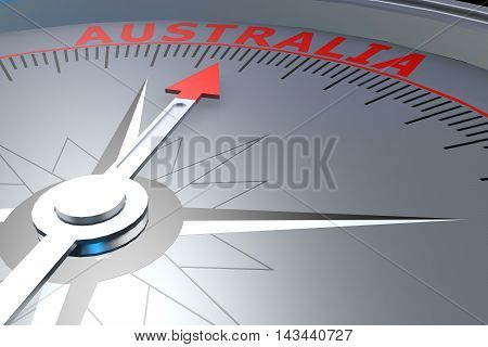 Black Compass With Australia Word On It