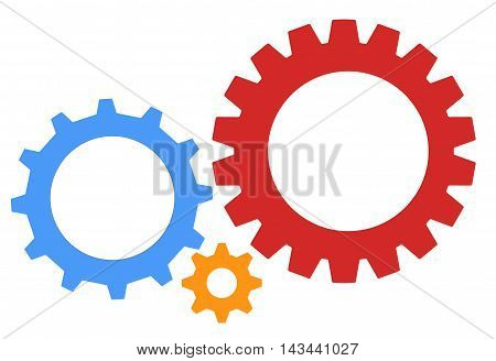 gear icon, Gear Wheels pictograms, Isolated gear wheels icon graphics