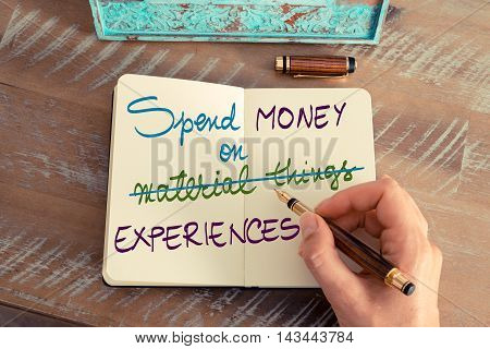 Spend Money On Experiences Not On Material Things