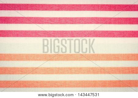 Vintage Photo, Colorful Striped Tablecloth As Background