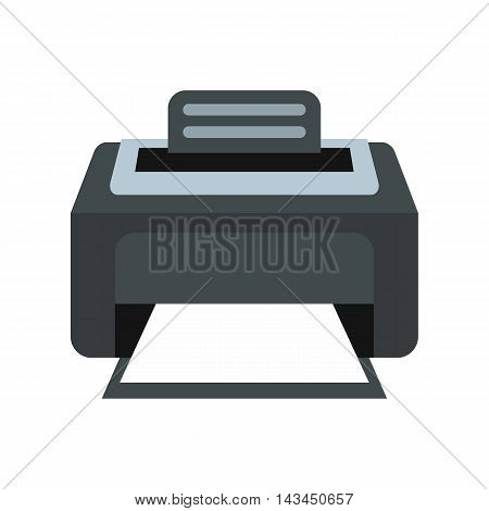 Printer icon in flat style isolated on white background. Print symbol