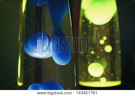 Blue And Green Retro Lava Lamps