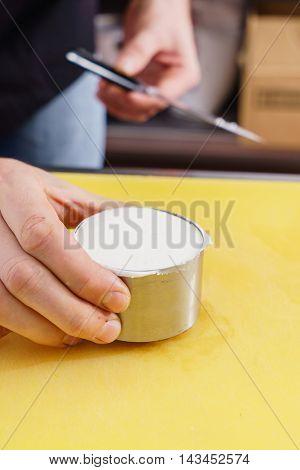 chef making cake