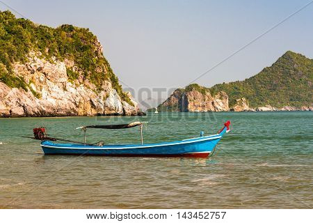 Colorful Decorated Traditional Thailand Boat