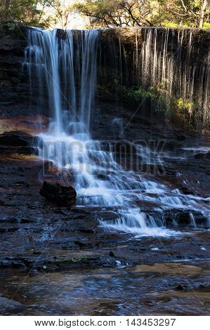 Weeping Rock Falls At Wentworth Falls, Blue Mountains