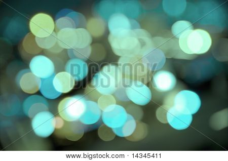 Abstract background of watery blurred street lights