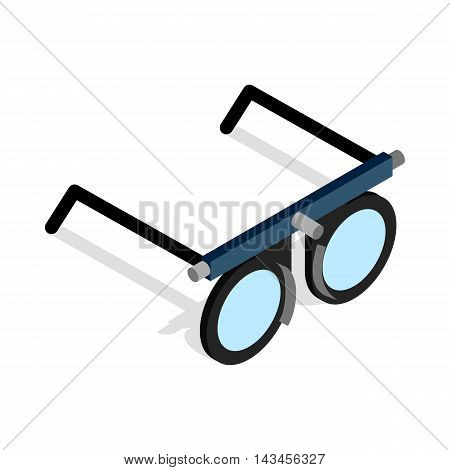 Glasses for vision testing icon in isometric 3d style isolated on white background. Vision symbol