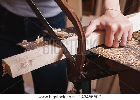 The Girl Sawing Lumber,