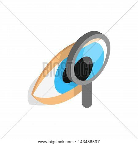 Eye exam icon in isometric 3d style isolated on white background. Vision symbol