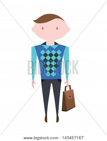 Business People. Man Character. Vector Illustration Eps10