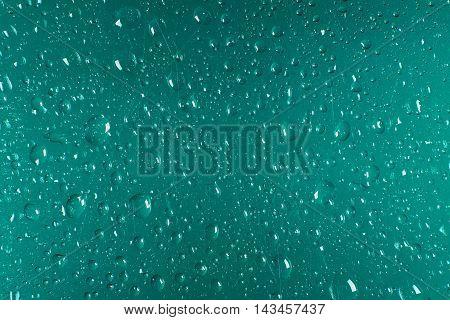 Drops Of Rain On The Window. Water Rain Drops On Glass Window