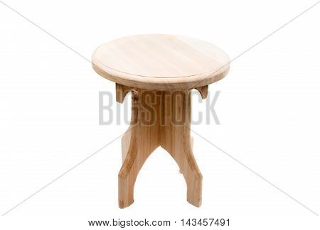 wooden chair retro on a white background