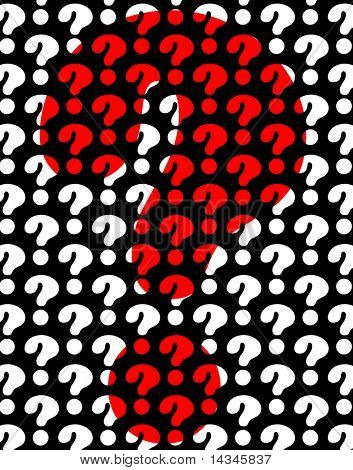 Background editable vector design of question marks