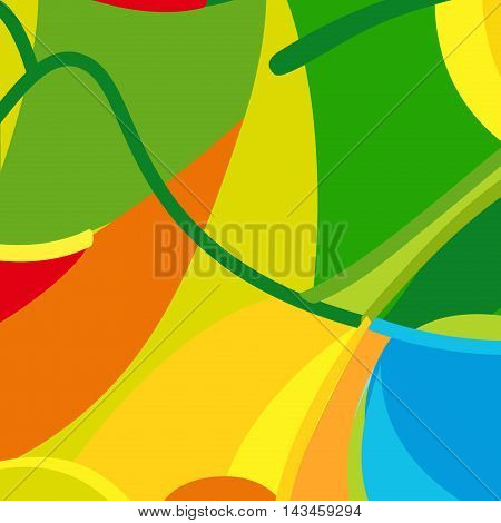 Vector Olympic Games Summer color pattern. Olympics Brazil style. 2016. Vector illustration. For Kids Holiday, Athletic Sport competition, Rio Games, Advertising, Rio de Janeiro carnival. Paralympics Champions background.