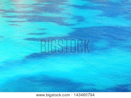 Water texture or sea background with copy space and turquoise color.