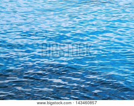 Water texture or sea background with wave pattern and turquoise color.