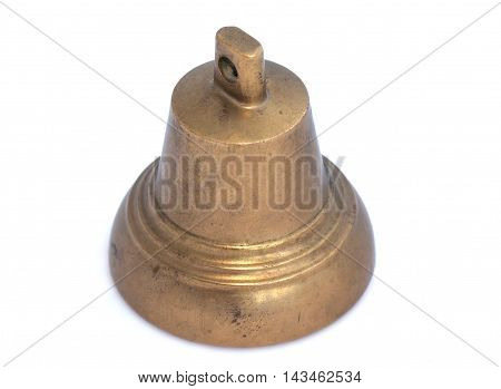 Small bell on a white background isolated