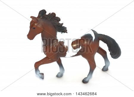 Horse toy on a white background isolated