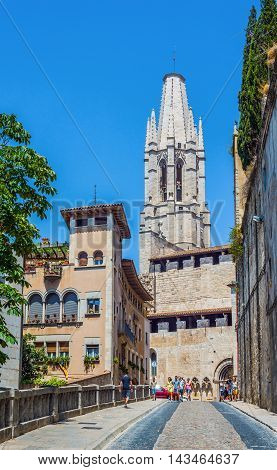 Basilica Of Sant Feliu Of Gerona, Costa Brava, Catalonia, Spain.