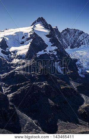 Grossglockner Austria's highest mountain. Travel location in Europe