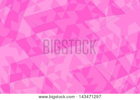 Abstract triangular pink background. 3D computed illustration.