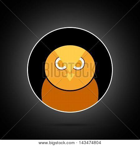 Very angry owl on nintendo background in orange tones