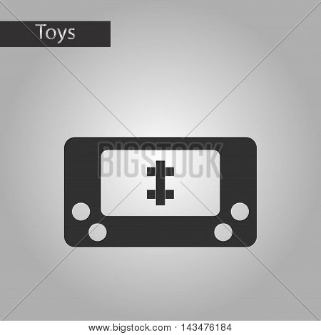 black and white style Kids toy console