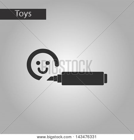 black and white style Kids toy felt-tip marker
