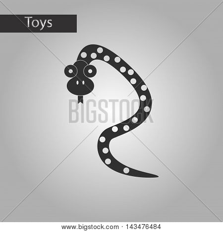 black and white style Kids toy snake