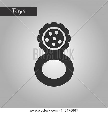 black and white style Kids toy rattle