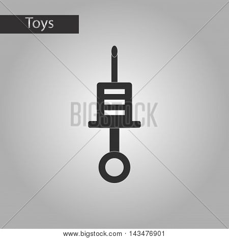black and white style Kids toy syringe