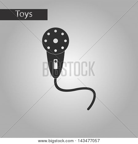 black and white style Kids toy microphone