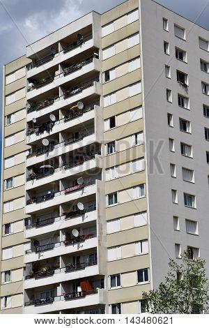 Les Mureaux France - july 29 2016 : building in the city