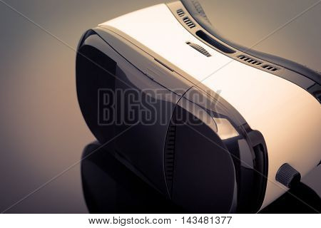 Virtual Reality Glasses On Black