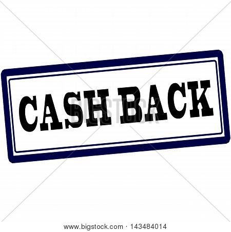 Rubber stamp with text cash back inside vector illustration