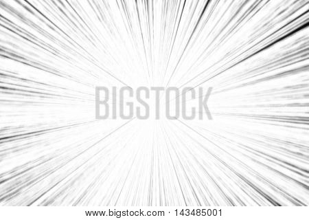 illustration black and white star burst matrix generated in black background technology concept.