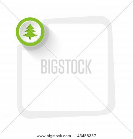 Green circle with cloverleaf and gray frame for your text