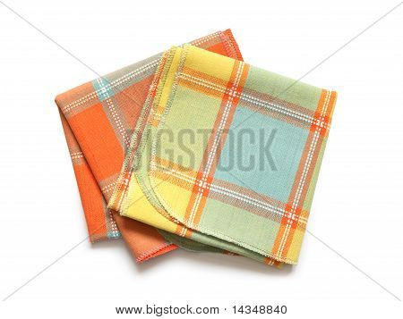 Napkins On White