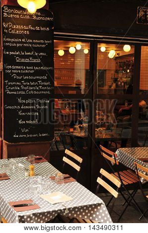 Aix en Provence France - april 21 2016 : a restaurant in city center