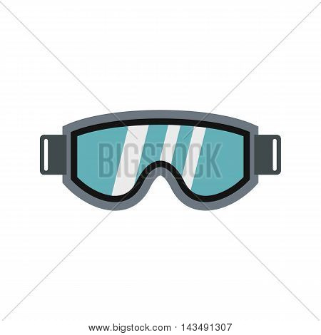 Glasses for snowboarding icon in flat style isolated on white background. Winter sport symbol